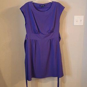 Gianni Bini Purple Sash Dress